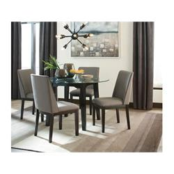 5PC DINETTE-GLASS TOP UHP CHAIRS D387-01/15 Image